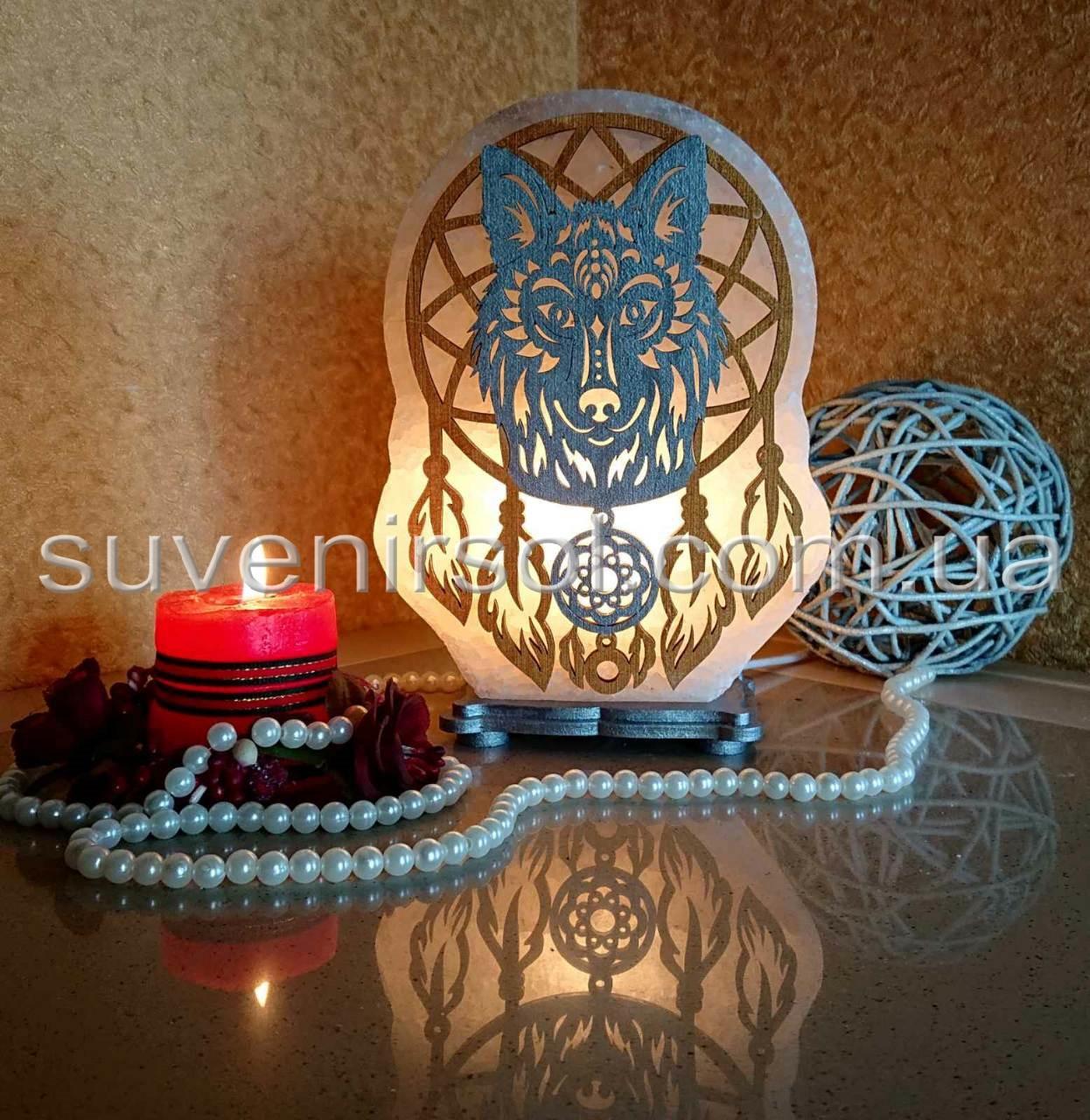 Соляная лампа Ловец снов 2 цветной