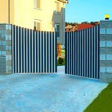 Алюминиевые распашные ворота , фото 3