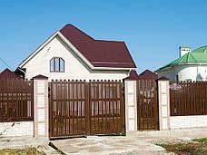 Алюмінієві розсувні ворота, фото 2