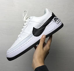 Женские кроссовки Nike Air Force 1 Jester XX - White/Black 36-40рр. Живое фото (Реплика ААА+)