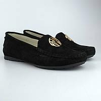 """Мокасини нубукові чорні річна жіноче взуття Ornella Cesarep Black Vel by Rosso Avangard колір """"Грейс"""""""