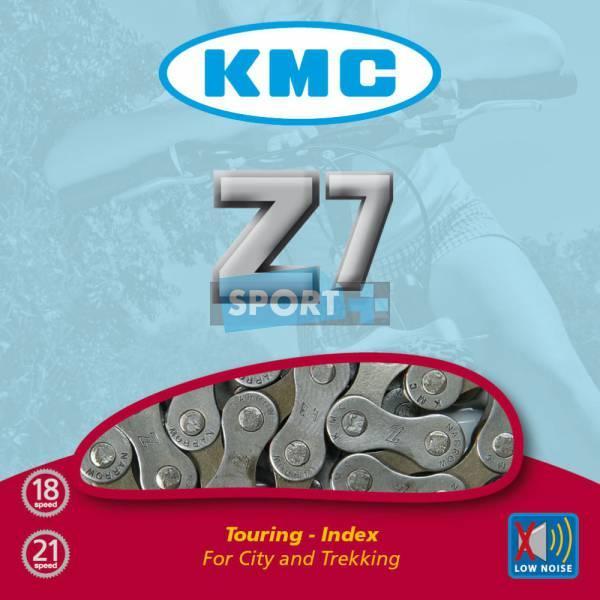 Цепь KMC Z7 с замком в упаковке