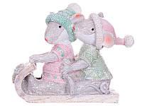 Статуэтка Lefard Мышки на санках 11х8,5 см 192-008