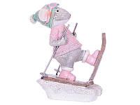 Статуэтка Lefard Мышка на лыжах 11х9 см 192-006