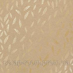 """Лист односторонней бумаги с фольгированием """"Golden feather kraft"""""""