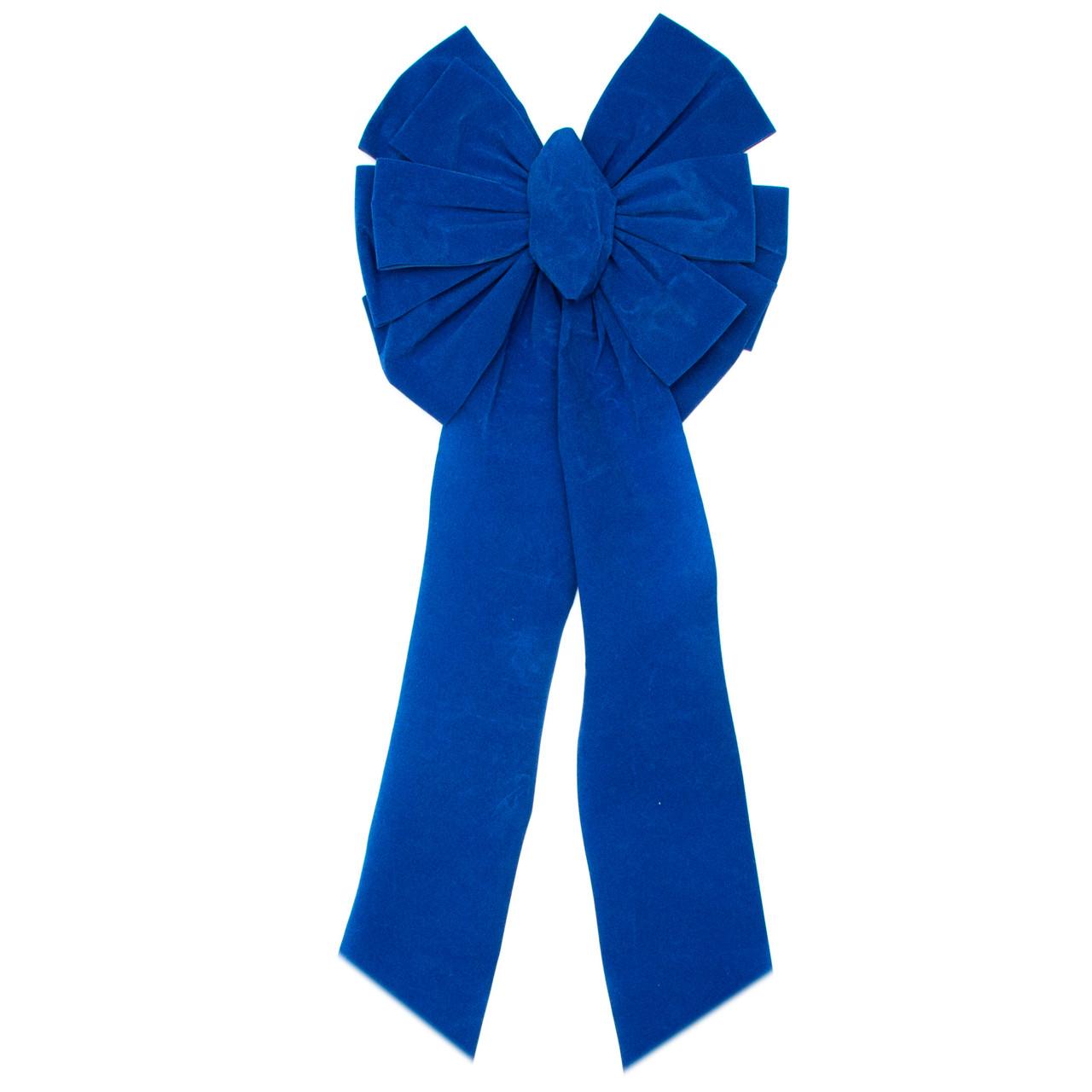 Елочная игрушка Бантик 30*10 см, синий (471058-4)