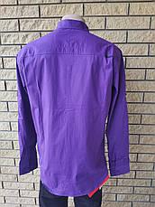 Рубашка мужская стрейчевая коттоновая брендовая высокого качества BAGARDA, Турция, фото 3