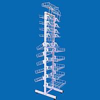 Сетчатый стеллаж высотой 176 см шириной 30 см