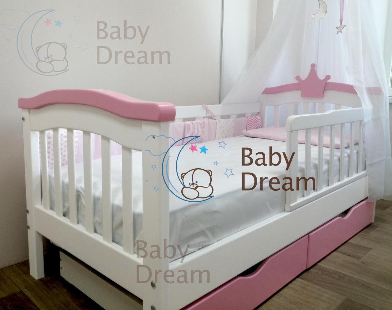 Кровать для девочки SeLfie Baby Dream с бортиком из дерева