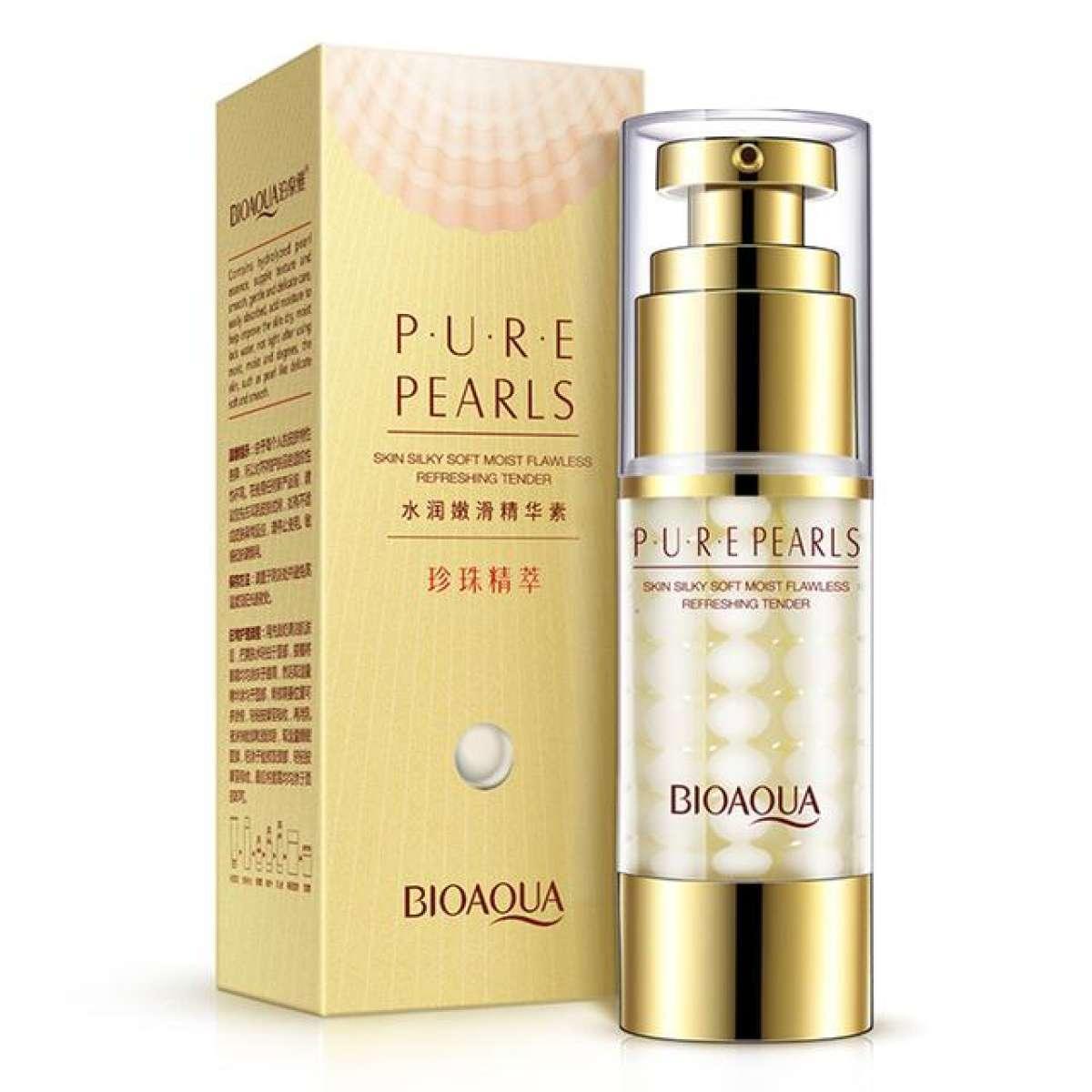 Крем для шелковистости кожи вокруг глаз с экстрактом жемчуга BIOAQUA Pure Pearls Eye Cream, фото 1