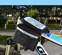 Велосипедная сумка фирменная на раму с боками Rockbros  для смартфона до 6 дюймов, фото 1
