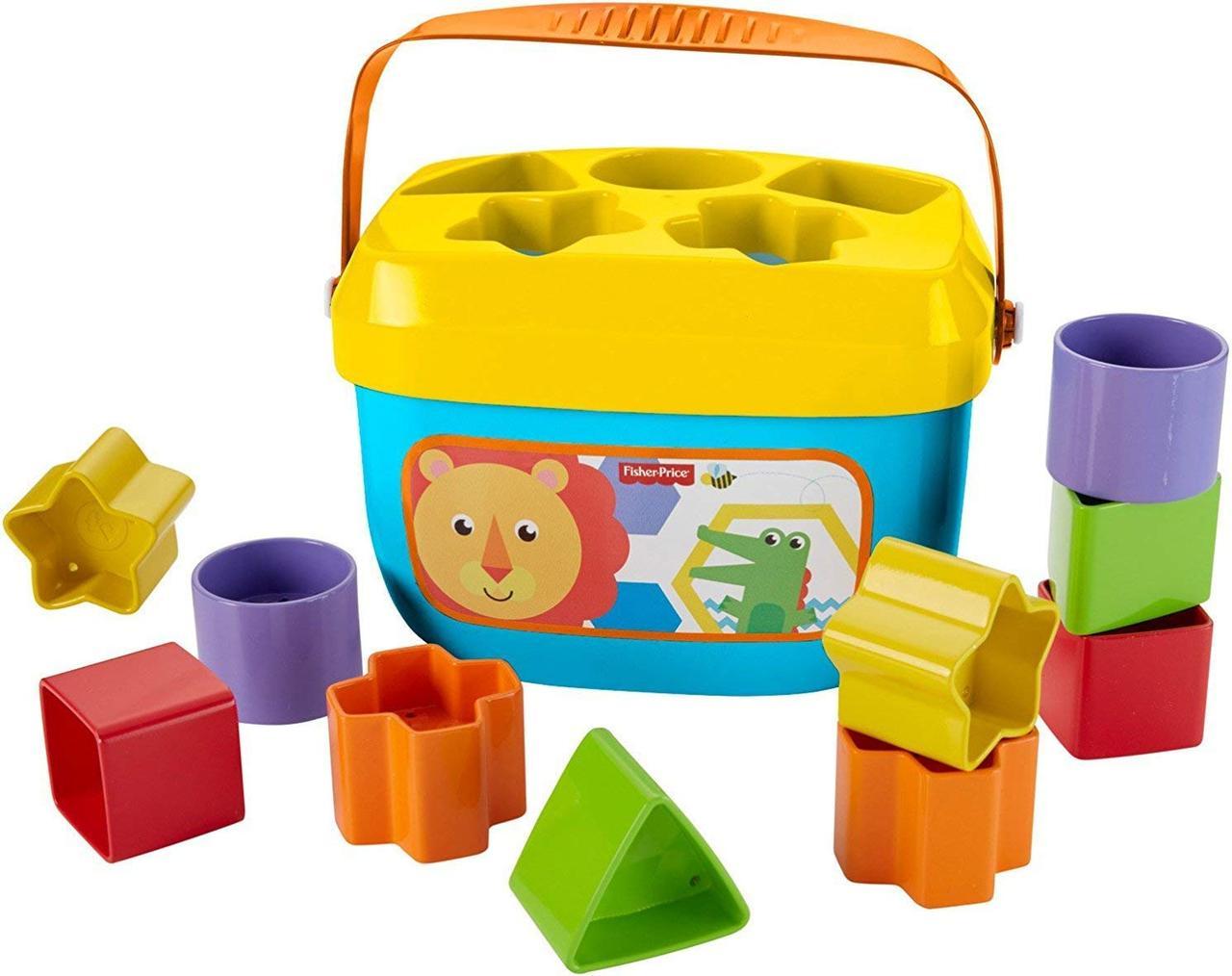 Ведерко с кубиками Fisher-Price Яркое