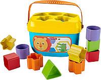 Ведерко с кубиками Fisher-Price Яркое, фото 1
