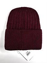 Женская шапка Flirt Сонг One Size бордовая, фото 2