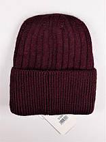 Женская шапка Flirt Сонг One Size бордовая, фото 3