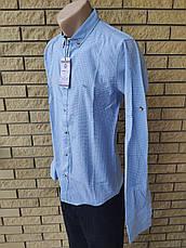 Рубашка мужская коттоновая  брендовая высокого качества  GOOA CLUB, Турция, фото 3