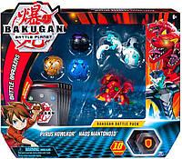 Bakugan Battle planet набор из 5 бакуганов Pyrus Howlkor and Haos Mantonoid Пайрус Холкор Хаос  Мантоноид
