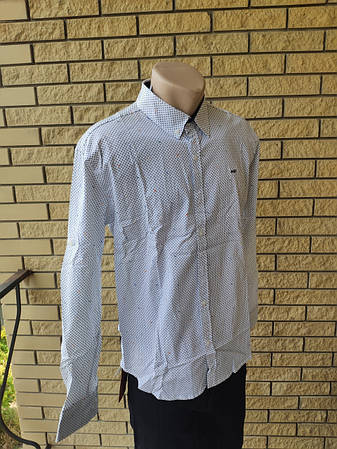 Рубашка мужская стрейчевая коттоновая брендовая высокого качества BAGARDA, Турция, фото 2