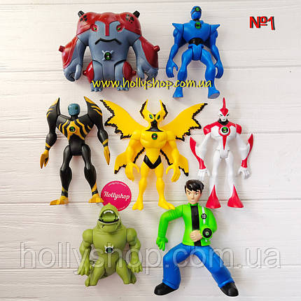 Игровой набор фигурок героев Ben 10 10-14 см + Свет №1, фото 2