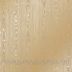 """Лист крафт картона с фольгированием """"Golden wood texture"""""""