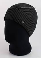 Мужская шапка с отворотом Thomas Flip 56 Б/Ф темно-серая
