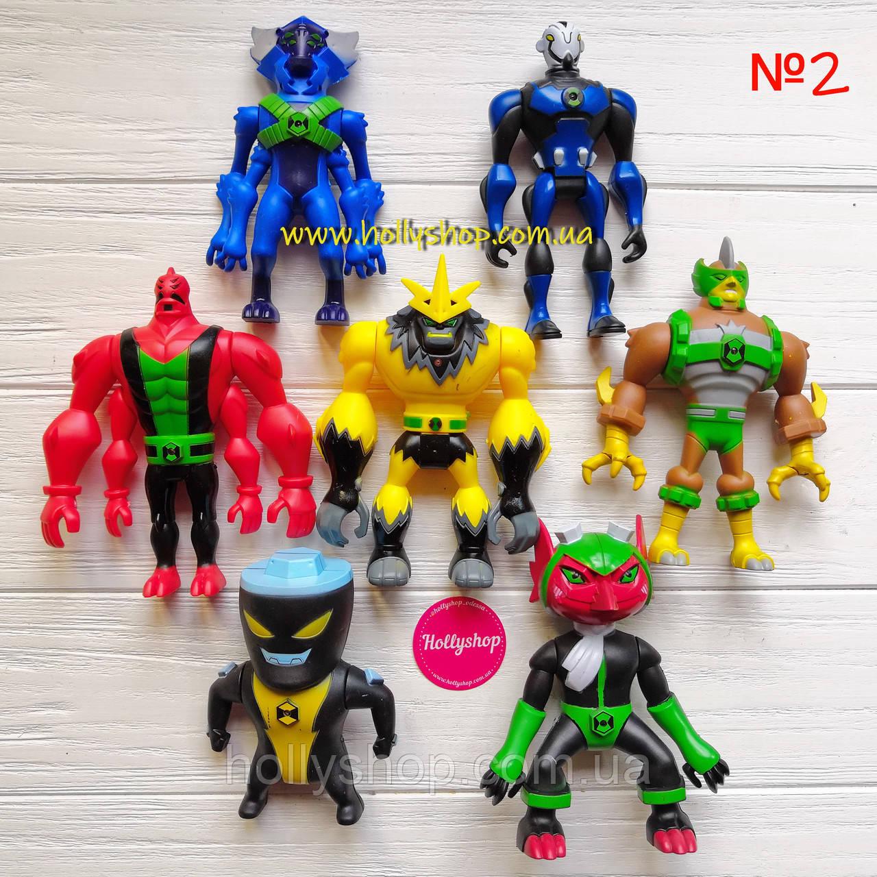 Игровой набор фигурок героев Ben 10 10-14 см + Свет №2