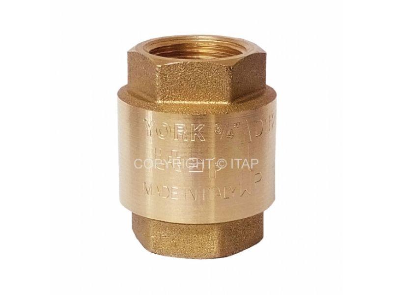 """Клапан зворотний кульовий латунний 3/4"""" York ITAP (Італія)"""