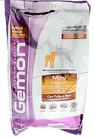 Корм Gemon DOG Mini Adult курица/рис для взрослых собак малых пород