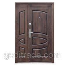 Ст. 127+ Дверь бархатный лак (улица) (минвата пер) (70mm) (1200) R + РУЧКА