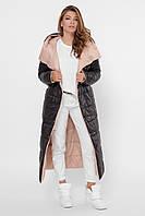 Двухсторонняя зимняя куртка удлиненная 42-52 размер