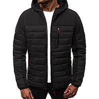 Куртка мужская осенняя ( Размеры M L XL XXL). Стильная мужская курточка черная