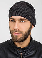 Вязаная шапка с отворотом Rocky F темно-серый
