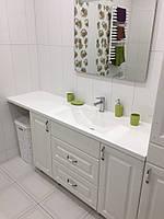 Умывальник со столешницей в ванную комнату из искусственного камня (изготовление на заказ)
