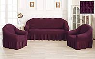Комплект Чехлов на Диван   + 2 кресла Лесная Ягода