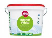 Краска высокоукрывистая VIVACOLOR INTERIOR WHITE для потолков, 10л