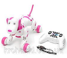 Интерактивная игрушка собака робот на радиоуправлении HappyCow Smart Dog 30 см. со светом, звуком (777-338), фото 2