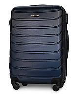Средний чемодан 65х45х25 см на 4 колесах Fly 1107 Темно-синий