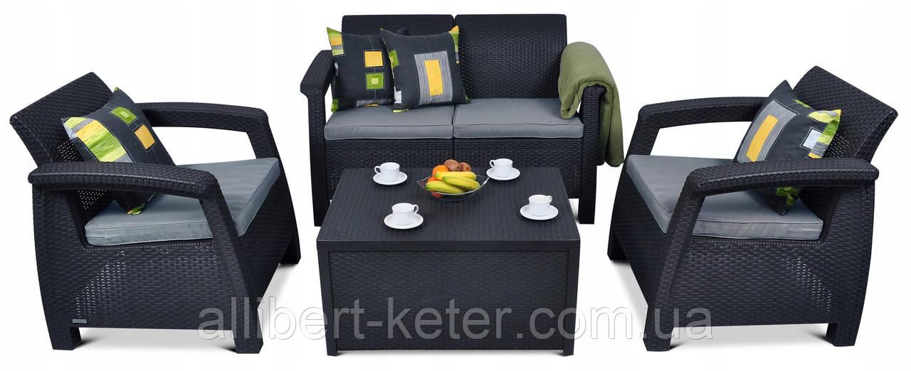 Мебельная гарнитура Corfu Box Set Allibert Keter Curver