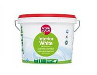 Краска высокоукрывистая VIVACOLOR INTERIOR WHITE для потолков, 3л