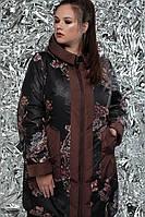 Плащ женский демисезонный двусторонний, размер 54, 56, 58, 60, 62, 64, 66, 68, 70, 72, цвет коричневый 66