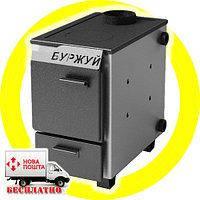 Буржуй КП-10 кВт - котел твердотопливный с чугунной плитой для помещений до 100 м.кв.