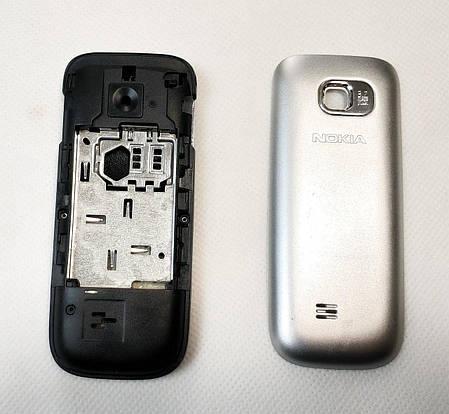 Корпус Nokia C2 01 серый без средней части + клавиатура class AAA, фото 2