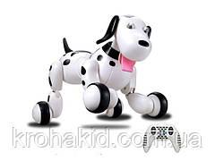 Интерактивная игрушка собака робот на радиоуправлении HappyCow Smart Dog 30 см. со светом, звуком (777-338)