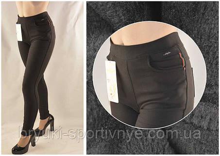 Джинсы женские на меху черные Style  Джеггинсы зимние, фото 2