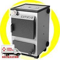 Буржуй КП-12 кВт - котел твердотопливный с чугунной плитой для помещений до 120 м.кв.