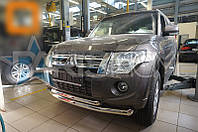 Защита на передний бампер Ус двойной Mitsubishi Pajero Wagon IV 2007-