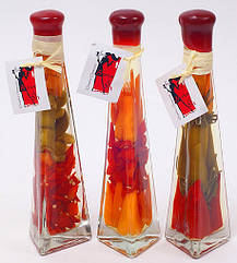 Декоративная бутылка с овощами, 23.2см, 3 вида BonaDi 131-035