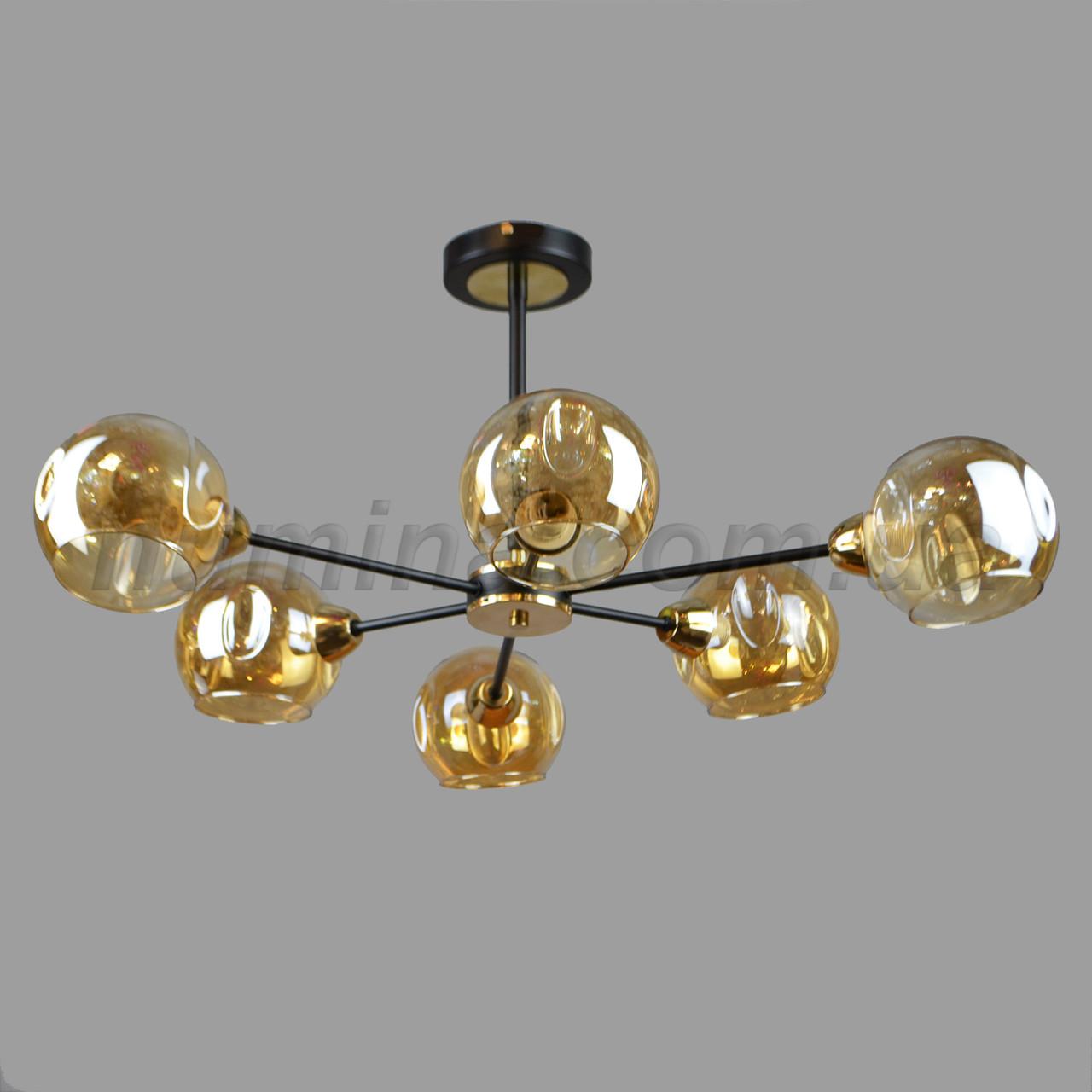 Люстра потолочная на шесть ламп 29-H089/6 BK+FGD