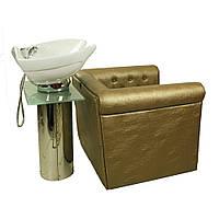 Парикмахерская мойка с широким креслом и подножкой E015