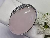 Серебряное кольцо с розовым кварцем Монсерат